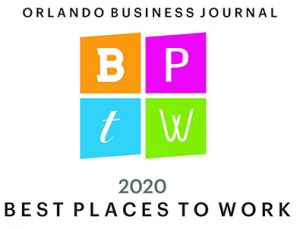 Orlando Business Journal 2020 Best Places to Work logo